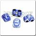 Ceramic JEWELRY shaped bead - Blue BumbleBee Car