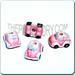 Ceramic JEWELRY shaped bead - Pink BumbleBee Car
