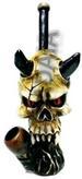 Skull w/. Horns FIGURINE Pipe
