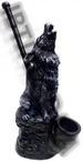 Grey Wolf FIGURINE resin smoking pipe