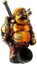 Resin FIGURINE Traveler Buddha Shaped Smoking Pipe.