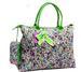 ''Ori-Ori'' Quilted Large TOTE BAG w/purse Purple Flower