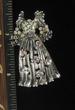 ANTIQUE SILVERTONE FASHION  DRESS PIN