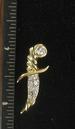 GOLDEN DAGGER TAC PIN