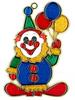 Fat Clown with BALLOONs Suncatcher