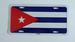 CUBAN FLAG LICENSE PLATE