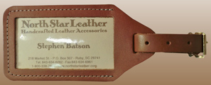 Business Card Leather LUGGAGE Tag
