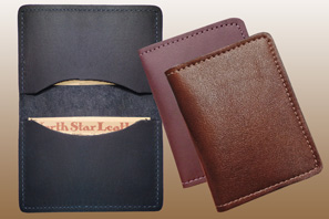 LEATHER Business Card Case Assoreted Seconds