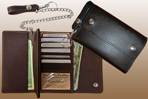 Large Credit Card Leather Trucker WALLET
