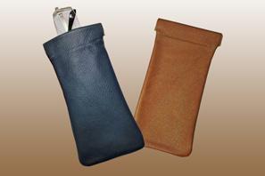 Leather Snap-Frame GLASSES Case