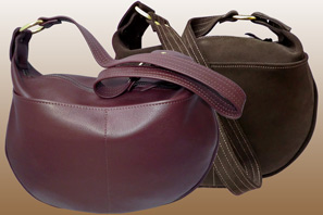 Day Tripper Large LEATHER Purse with Front Pockets