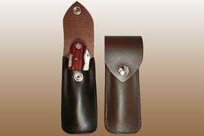 Large Leather KNIFE Case
