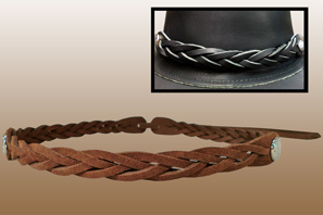 Leather Braided HATBand
