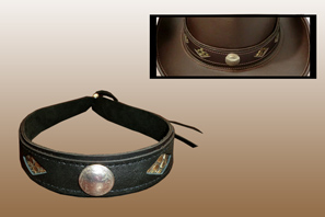 Leather HAT Band with Diamond Snake Cutouts