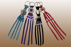 Leather WESTERN Cowboy Keychains