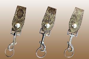 Rattlesnake Skin Deluxe Key Loop
