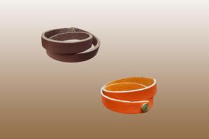 Double Wrap LEATHER Bracelet ½'' W