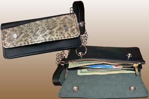 Rattlesnake Skin Large Trucker Wallet