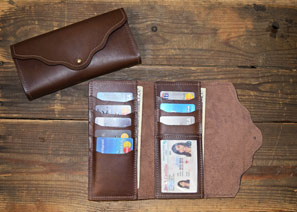Women's Leather Card CLUTCH Wallet
