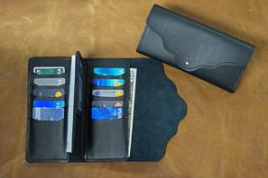 Women's Leather Checkbook CLUTCH Wallet