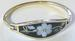 Black BANGLE with pearl flower