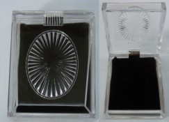 Lucite JEWELRY BOX For Pierced Earrings & Necklaces
