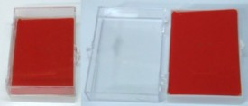 Lucite JEWELRY Box For Pierced Earrings, Necks, Pin