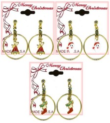Christmas Eternity Pierced EARRING Assortment