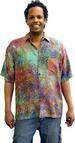 Balinese Batik SHIRT for Men in Multicolor Web Motif