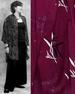 Batik Button Down Oversize SHIRT for Women in Burgundy Batik