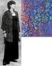 Batik Button Down Oversize SHIRT for Women in Blue Floral Batik