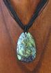 Tear Drop Abalone Necklace with LEATHER Cord