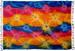 Extra Long Deep Colored Rainbow TIE DYE Sarong